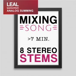 Mixing 8 Stereo tracks more than 7 min. length