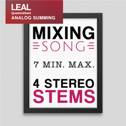 Mixing song 4 Stereo tracks and 7 min. max length