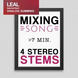 Mixing 4 Stereo tracks more than 7 min. length